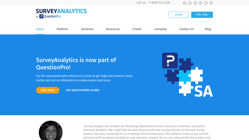 Survey Analytics Landing Page