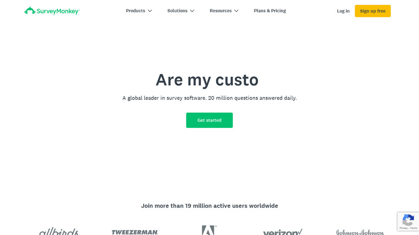 Survey Monkey Landing Page