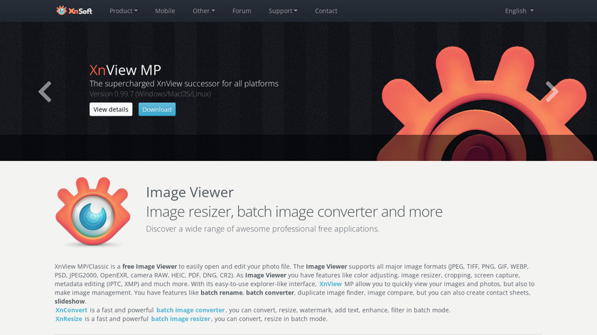 XnView MP Landing Page