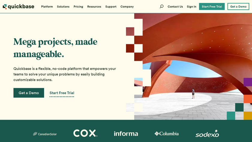 QuickBase Landing Page